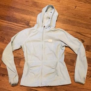 Light Blue North Face Hooded Zip Up